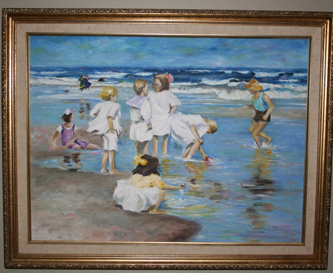 Children at the Beach by Mary Ellis LaGarde