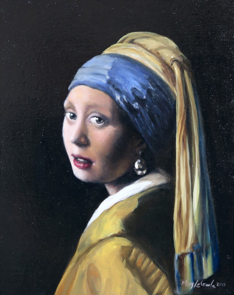 "Study of Vermeer's Girl With a Pearl Earring Oil on Canvas 18"" x 24"""