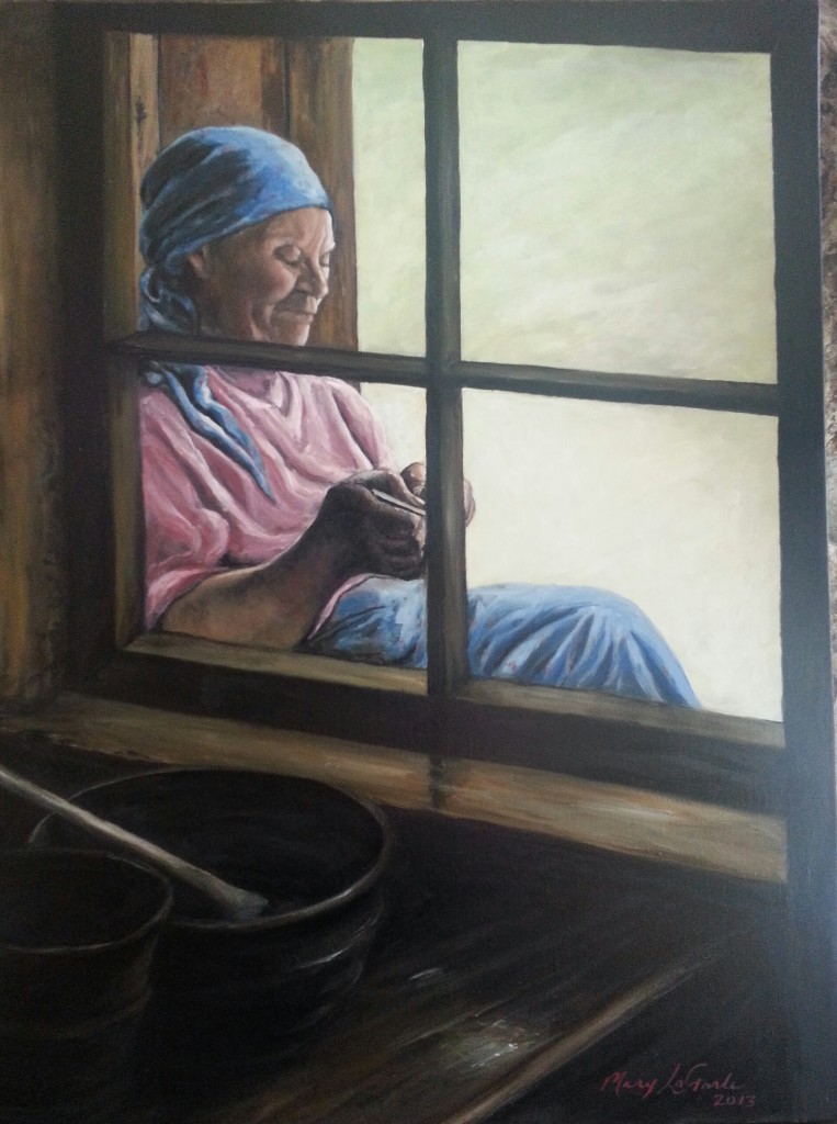 Estonian Basket Weaver by Mary Ellis LaGarde
