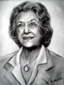 Sketch of Elizabeth Florence Nichols by Mary Ellis LaGarde